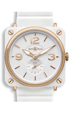 Bell and Ross Aviation BR S 39 MM Watch BR S White and Gold