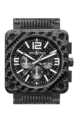 Bell and Ross Aviation BR 01 46 MM Watch BR01-94 Carbon Fiber