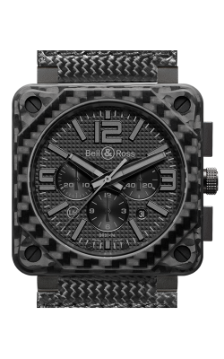 Bell and Ross Aviation BR 01 46 MM Watch BR01-94 Carbon Fiber Phantom