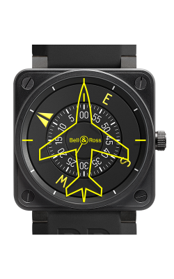 Bell & Ross BR 01 Flight Instruments Watch BR 01 92 Heading Indicator
