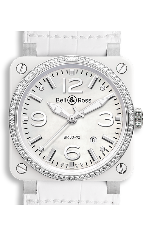 Bell and Ross BR 03-92 BR03-92 White Ceramic Diamonds product image