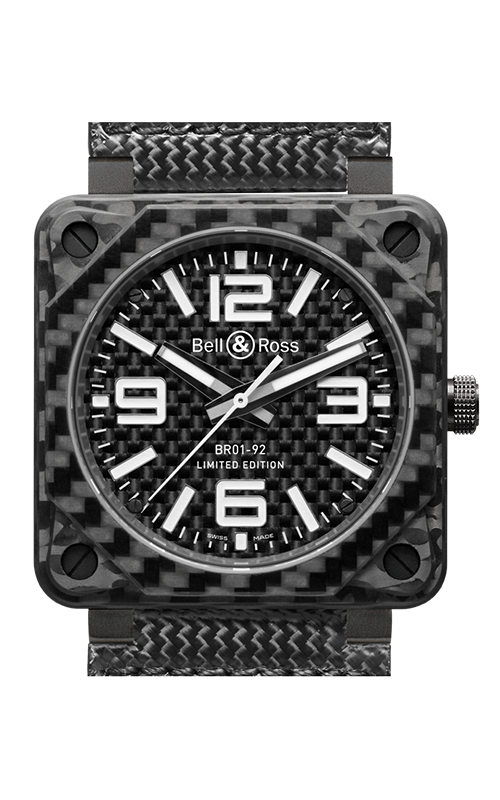 Bell and Ross Aviation BR 01 46 MM Watch BR01-92 Carbon Fiber product image