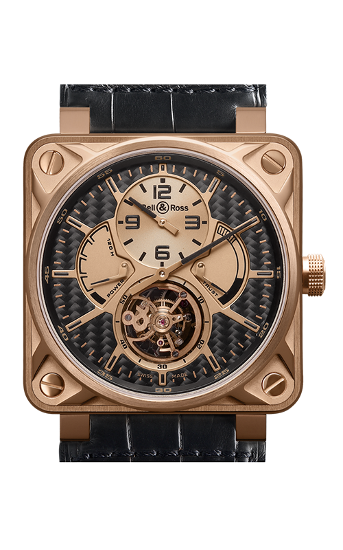 Bell and Ross Aviation BR 01 46 MM Watch BR01 Tourbillion Pink Gold product image