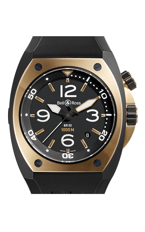 Bell and Ross Automatic BR02-92 Pink Gold and Carbon product image