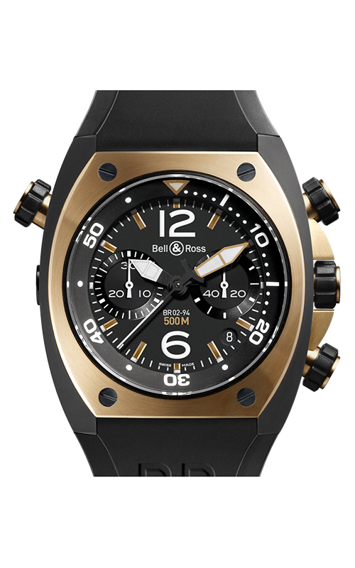 Bell and Ross Chronograph BR02-94 Pink Gold and Carbon product image
