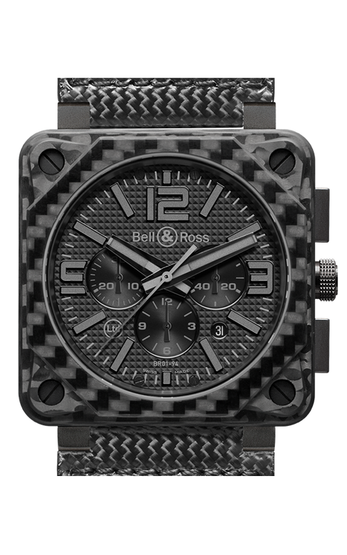 Bell and Ross Aviation BR 01 46 MM Watch BR01-94 Carbon Fiber Phantom product image