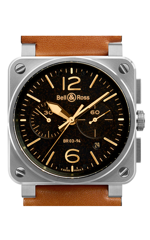 Bell and Ross Aviation BR 03 42 MM Watch BR03-94 Golden Heritage product image