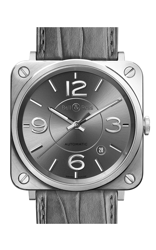 Bell and Ross Aviation BR S 39 MM Watch BR S Officer Ruthenium product image