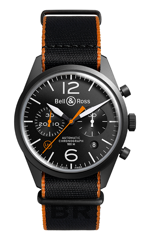Bell and Ross Vintage Watch BR 126 Carbon Orange product image