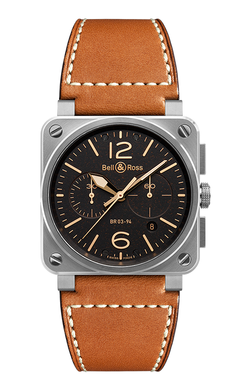 Bell and Ross Instruments BR 03 42 MM Watch BR 03-94 Golden Heritage product image