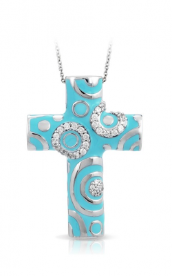 Belle Etoile Galaxy Turquoise Cross Pendant GF-28454-05 product image