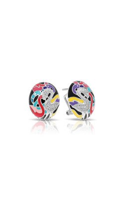 Belle Etoile Flamingo Black & Multi Earrings 03021210303 product image