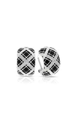 Belle Etoile Tartan Black & Ivory Earrings 03021310404 product image