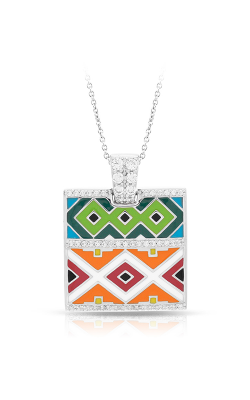 Belle Etoile Santa Fe Orange And Green Pendant 02021620301   product image