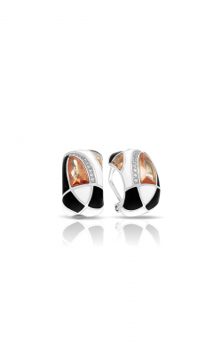 Belle Etoile Tango Champagne, Black, & White Earrings 03021320604 product image