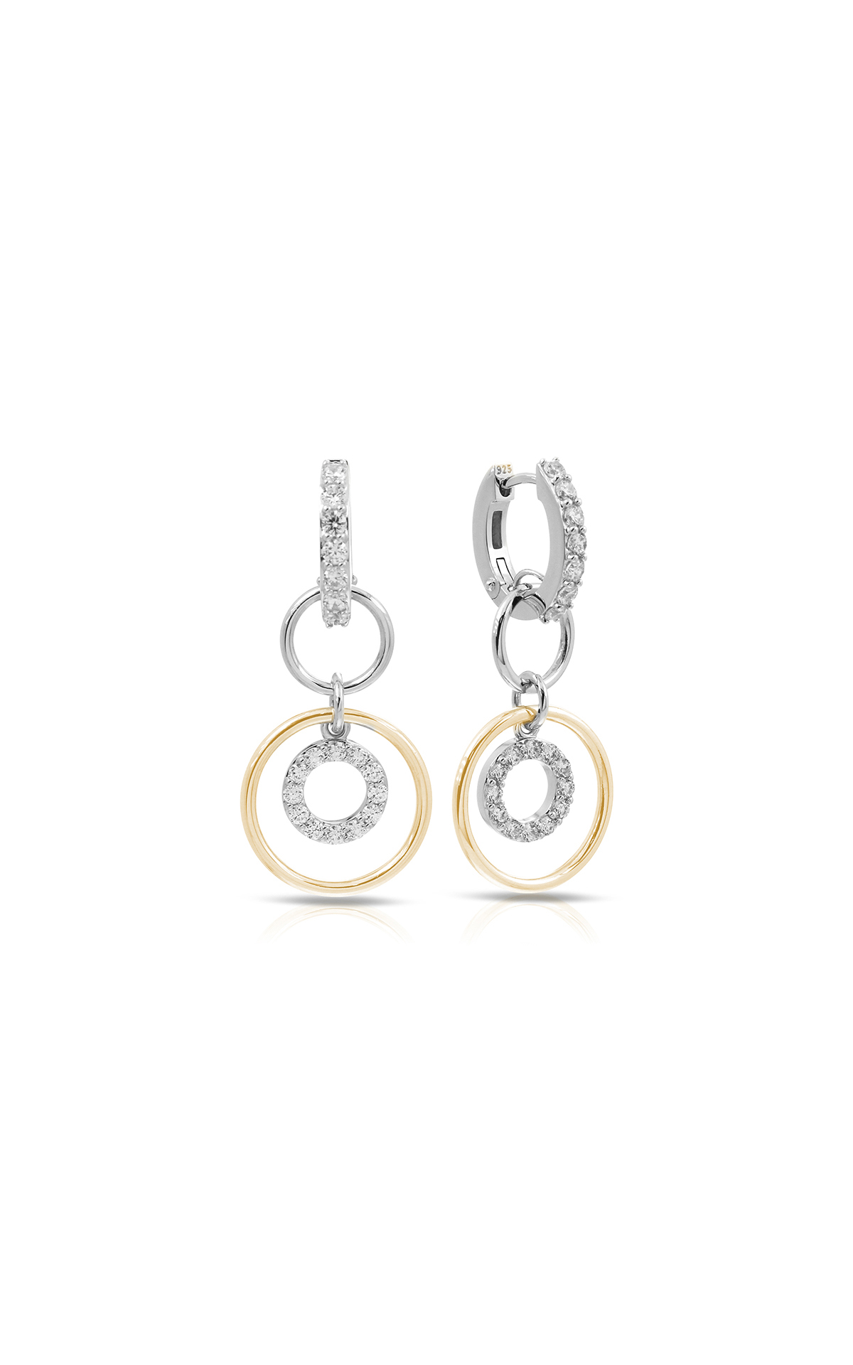 Belle Etoile Color Stone Concentra White and Yellow Earrings 3011620201 product image