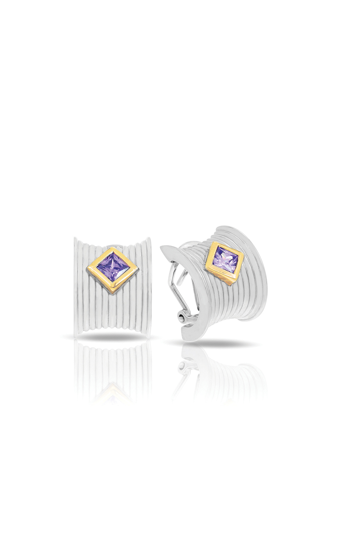 Belle Etoile Color Stone Valore Silver & Amethyst Earrings 3011720101 product image