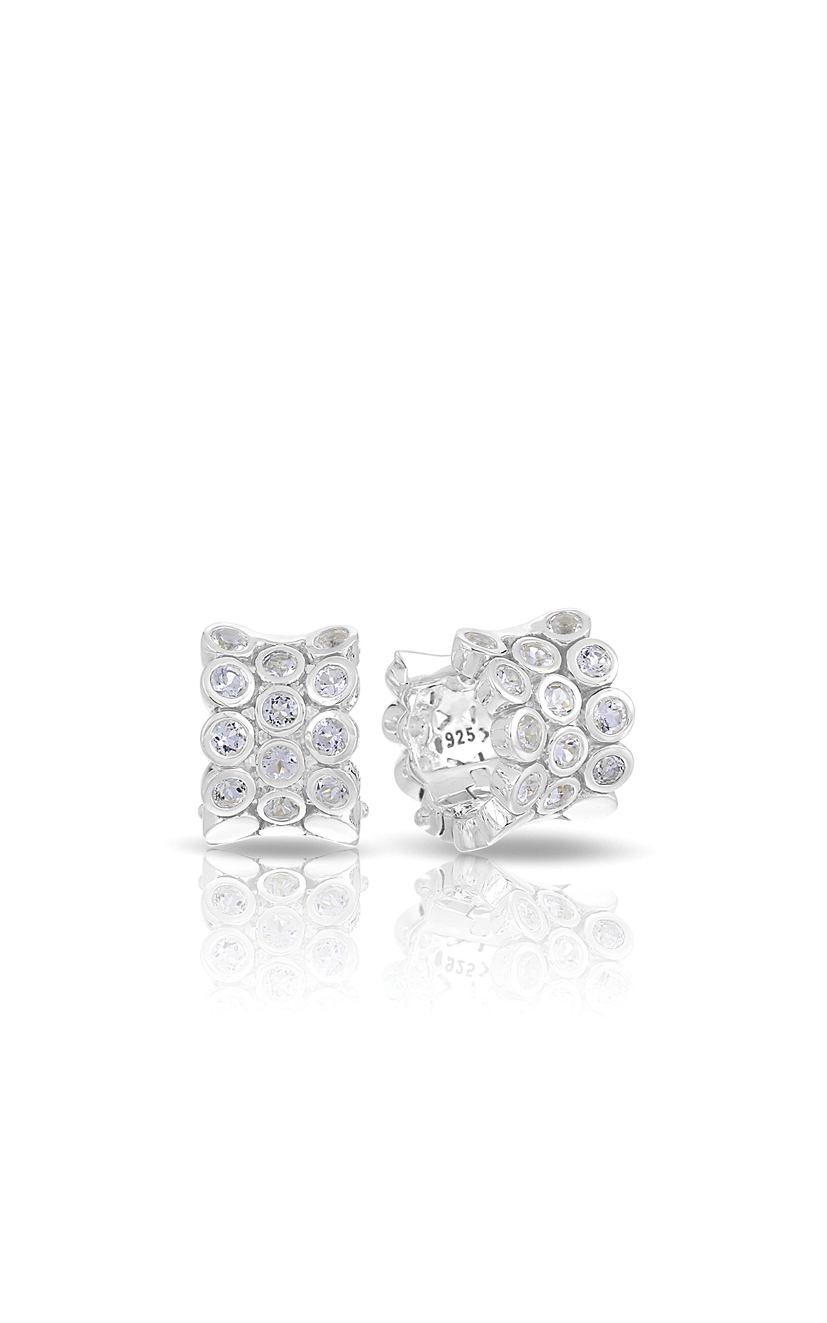 Belle Etoile Color Stone Shimmer Silver Earrings 3011720201 product image