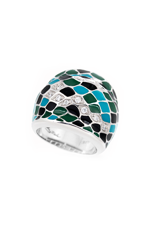 Belle Etoile Snakeskin  Teal Ring 01021220402-7 product image