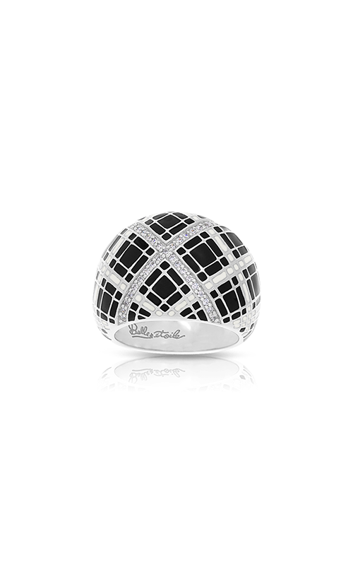 Belle Etoile Tartan Black & Ivory Ring 01021310404-9 product image