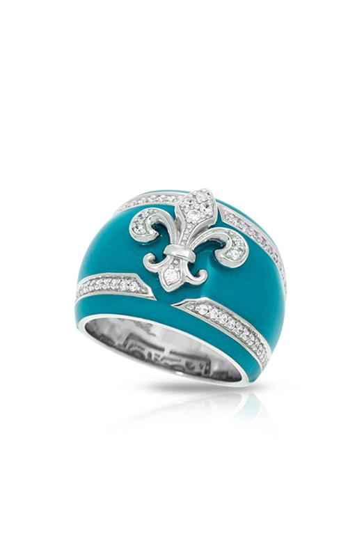 Belle Etoile Fleur de Lis Teal Ring 01021320503-6 product image