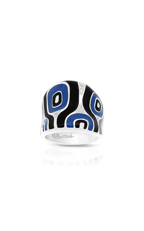 Belle Etoile Moda Blue & Black Ring 01021320704-7 product image