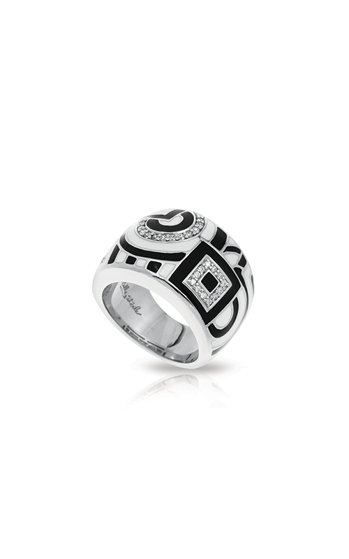 Belle Etoile Geometrica Black & White Ring 01021410201-5 product image