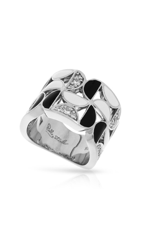 Belle Etoile Demiluna Black and White Ring 01021410501-6 product image