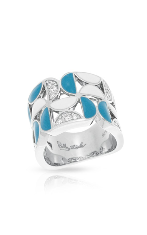Belle Etoile Demiluna Blue and White Ring 01021410502-7 product image
