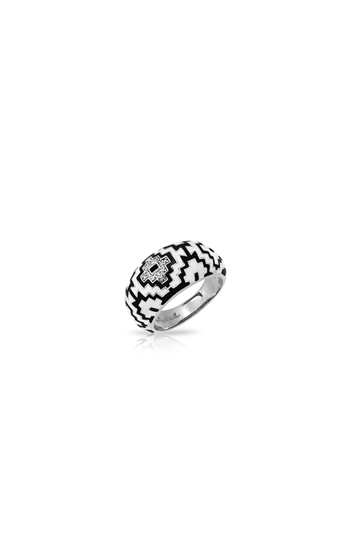 Belle Etoile Aztec Black and White Ring 01021420401-6 product image