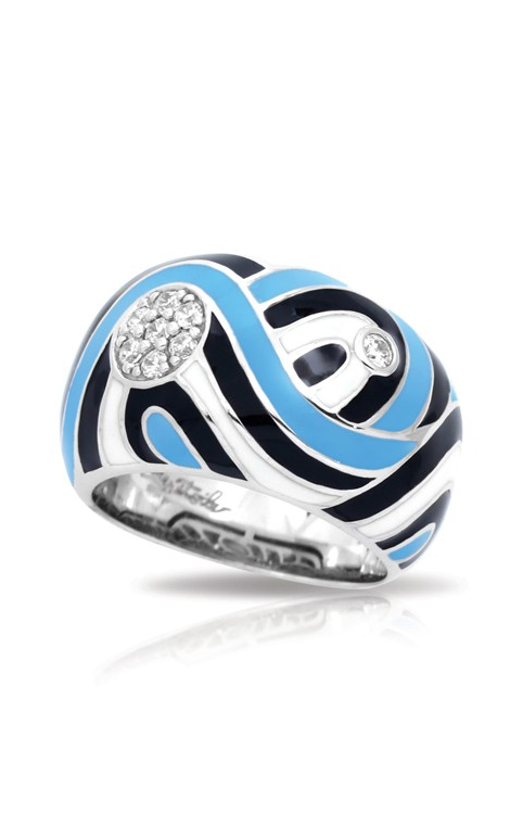 Belle Etoile Vortice Black and Blue Ring 01021520202-5 product image