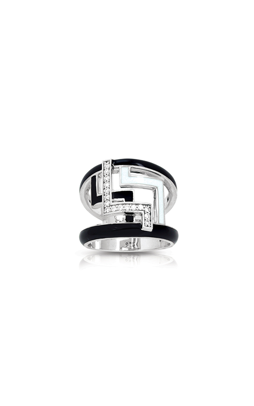 Belle Etoile Convergence Black and White Ring 01021520301-8 product image