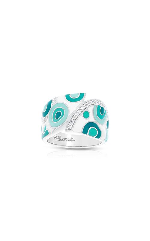 Belle Etoile Groovy White & Aqua Ring 01021610402-5 product image