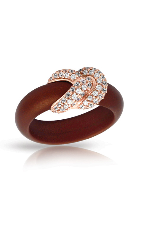 Belle Etoile Ariadne Brown and Rose Ring 01051420401-8 product image