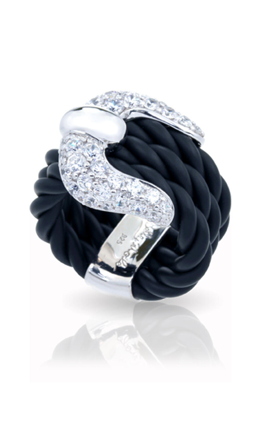 Belle Etoile Lasso Black Ring 01051010101-8 product image