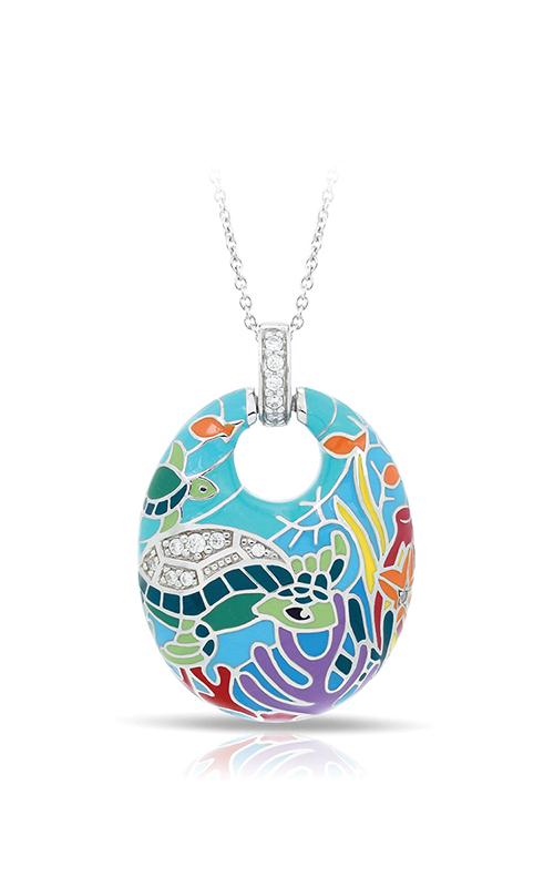 Belle Etoile Sea Turtle Aqua Pendant 02021610501 product image