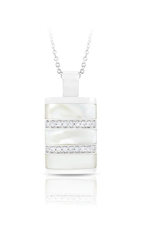 Belle Etoile Regal Stripe White Mother-of-Pearl Pendant  02031720201 product image