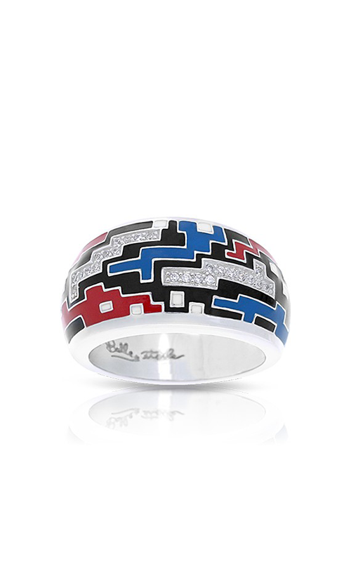 Belle Etoile Pixel Black, Red, & Blue Ring 02021710502-6 product image