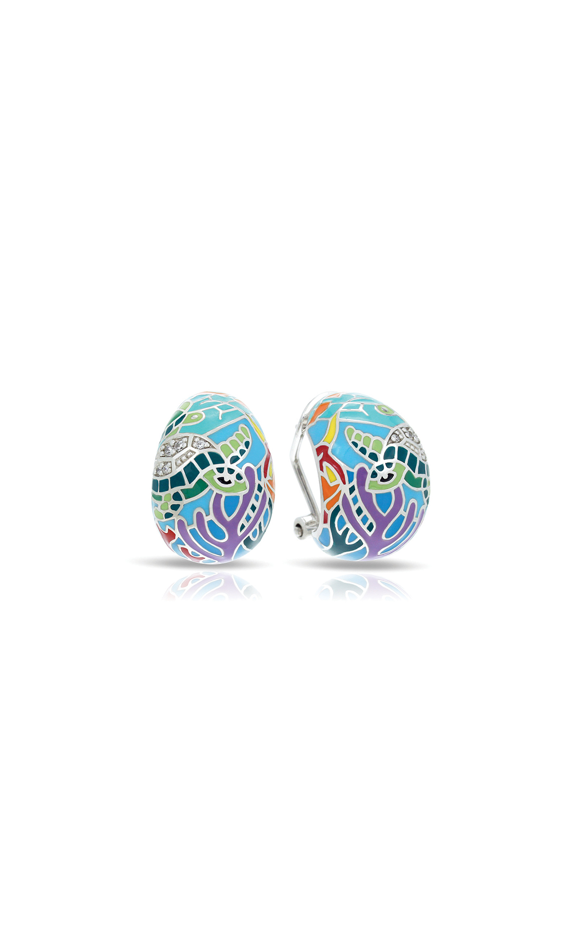 Belle Etoile Sea Turtle Aqua Earrings 3021610501 product image
