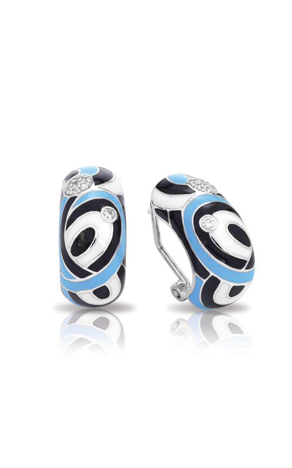 Belle Etoile Vortice Black and Blue Earrings 3021520202 product image