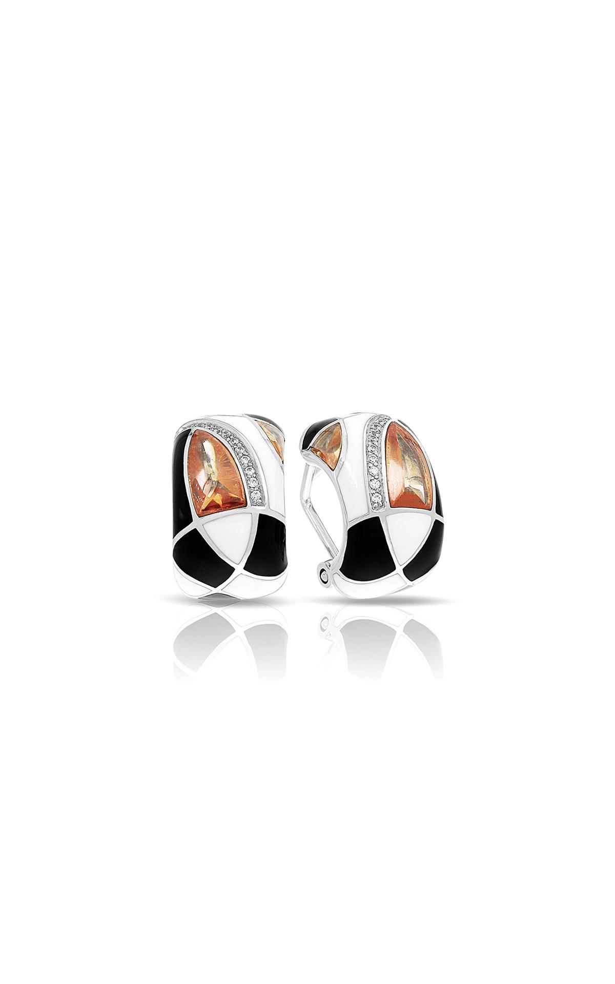 Belle Etoile Tango Champagne, Black, & White Earrings 03021320604 product image