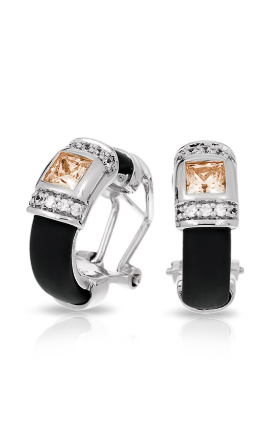 Belle Etoile Celine Black and Champagne Earrings 03051320401 product image