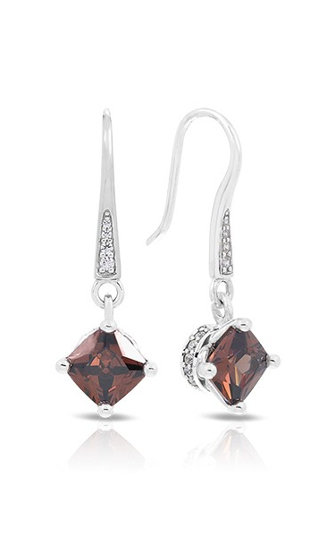 Belle Etoile Amelie Coffee Earrings 111365 VE-17003-02 product image