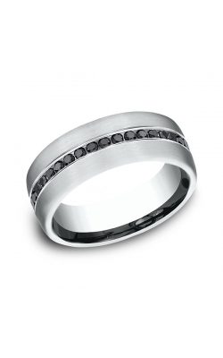 Benchmark Comfort-Fit Black Diamond Wedding Ring CF71755114KW04.5 product image