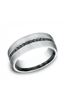 Benchmark Comfort-Fit Black Diamond Wedding Ring CF71755114KW08 product image