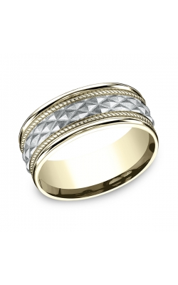Benchmark Designs Two-Tone Comfort-Fit Design Wedding Band CF15804014KWY06 product image