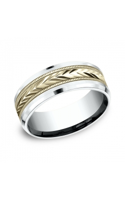 Benchmark Designs Two-Tone Comfort-Fit Design Wedding Band CF20800314KWY06 product image