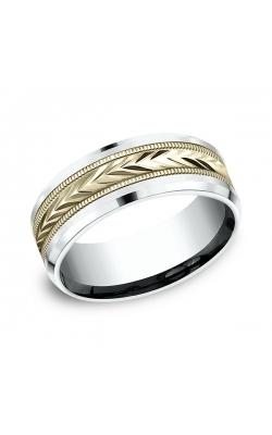 Benchmark Two-Tone Comfort-Fit Design Wedding Band CF20800314KWY10.5 product image
