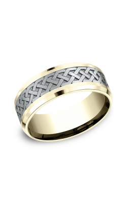 Benchmark Designs Two-Tone Comfort-Fit Design Wedding Band CF80836114KWY06 product image