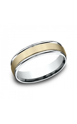 Benchmark Designs Two Tone Comfort-Fit Design Wedding Ring CF17603114KWY06.5 product image